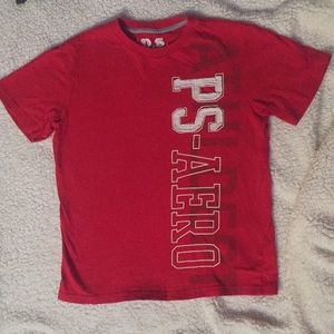 Boys red P.S. Aeropostale T-shirt, size M(10)